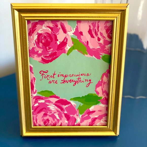 🌴Lilly Pulitzer Repurposed Agenda 5x7 print🌴